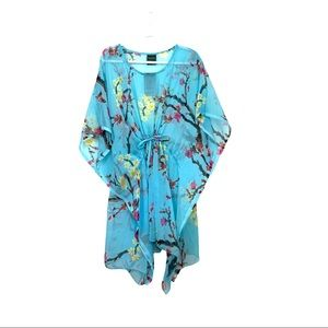 Summer Swim Blue Floral Cover Up